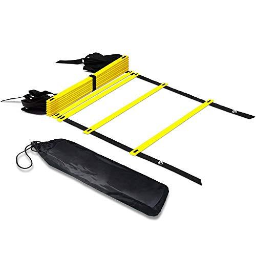 HSC uitrusting Agility Ladder met draagtas Voetwerk Ladder Multi Keuzes Rung en Combo Voetbal Training Outdoor