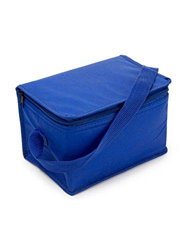 Textildruck Plauen Leichte Kleine Kühltasche Kühlbox Lunch Tasche zur Arbeit und Schule 20 x 12,5 x 13cm passend für 6 x 0.33l Dosen (Cobalt Blau)
