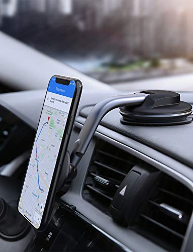 AUKEY Car Phone Mount 360 Degree Rotation Dashboard Magnetic Cell Phone Holder