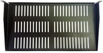 AVBcable RA-S-U1-9.5 1 Space Rack Shelf w/Vents 1 3-4Hx19Wx 9.5D, BLK