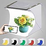 Puluz Mini boîte à lumière Photo Studio photo boîte de tente de tir Blanc Shooting boîte d'atelier 20 cm avec 2 x 20 perles lumineuses LED, 6 couleurs de fond pour petits articles