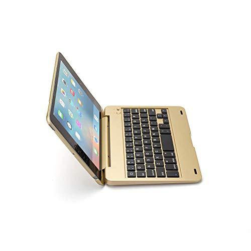 ANBF Multipurpose Flip Bluetooth Keyboard For Ipad Mini1 2 3 Generation Wireless Bluetooth Keyboard Cover For Ipad Mini1 Mini2 Mini3 (Color : Gold, Size : For Ipad mini 1 2 3)