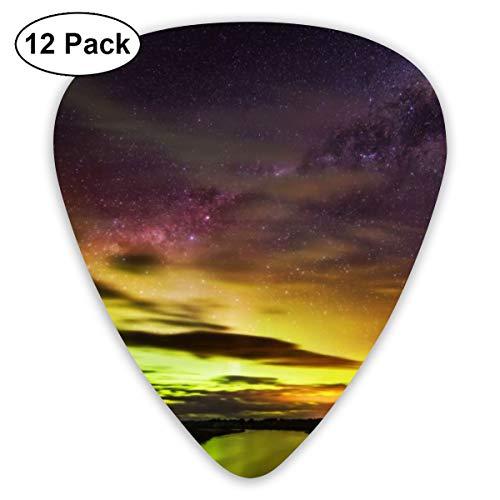 Gitaar Pick De Zuidelijke Lichten In Nieuw-Zeeland 12 Stuk Gitaar Paddle Set Gemaakt Van Milieubescherming ABS Materiaal, Geschikt voor Gitaren, Quads, Etc