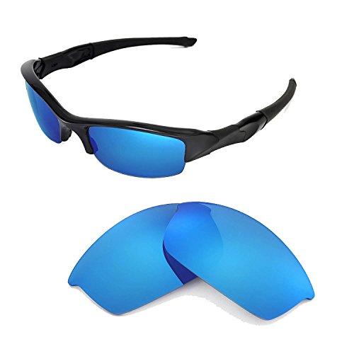 Walleva Ersatzgläser für Oakley Flak Jacket Sonnenbrille -Mehrfache Optionen (Blau)