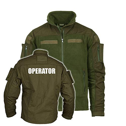 Copytec Kommando Fleecejacke Operator Tactical Airsoft Military Army Special Force#26683, Größe:XL, Farbe:Oliv