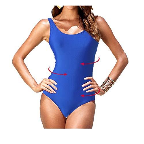 OverDose Soldes Femme Maillot de Bain Élégant Amincissant Sport Bikini 1 Piece Tie-Dye Dos Nu Monokini Rembourré Maillots Une pièce Noir Bleu
