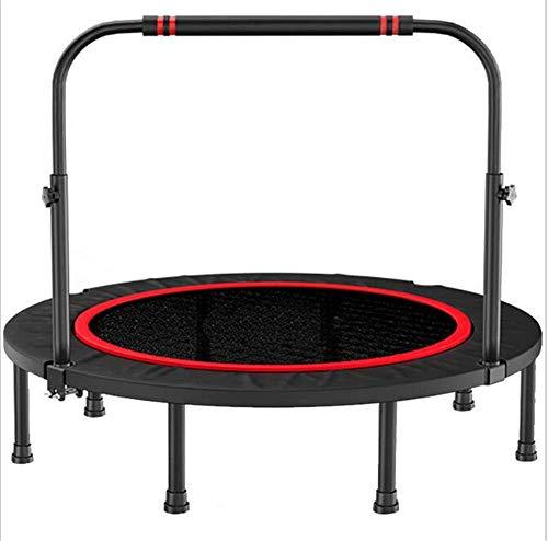 Tehwde Fitness trampoline, opvouwbaar, draagbaar, 40 inch tot 400 lB, met kabellier cardio-training en handgreep voor training in de tuin binnen