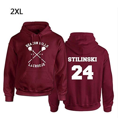 coil.c Lacrosse Hoodie Wolf 24 Teen, Damen Kapuzenpullover Hoodie, Unisex Sweatshirt, Pullover Für Pärchen, Teenager, Mädchen, Herren, Rot