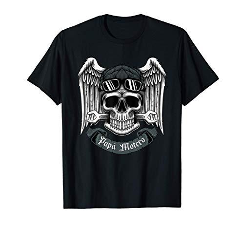 Papa motero, Camiseta de motos para Hombres. Regalo de papa Camiseta