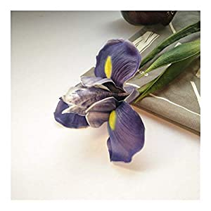 JiaQinHe Remains 3pcs Artificial Flowers Iris PU Material Have A Scent Fake Flowers Home Wedding Decoration Never