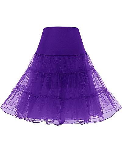 Bridesmay Enaguas Años 50 Vintage para Vestidos Faldas Cortas De Tul Mujer Cancan Tutu Rockabilly