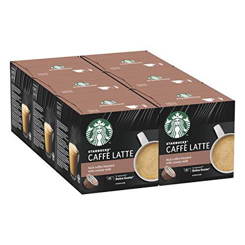 STARBUCKS Caffè Latte by Nescafe Dolce Gusto Kaffeekapseln, 72 Kapseln ( 6 x 12)