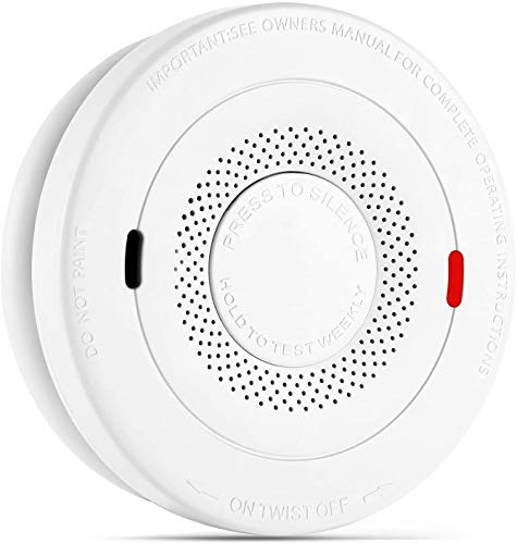 Smoke Alarms Detector,Dual Smoke Sensor Alarm with Voice Warning, 10 Year Lithium Battery Fire Alarm, CO Alarm Complies with UL 217 & UL 2034 Standards, Fire Alarms Detector Auto-Check (Not Hardwired)