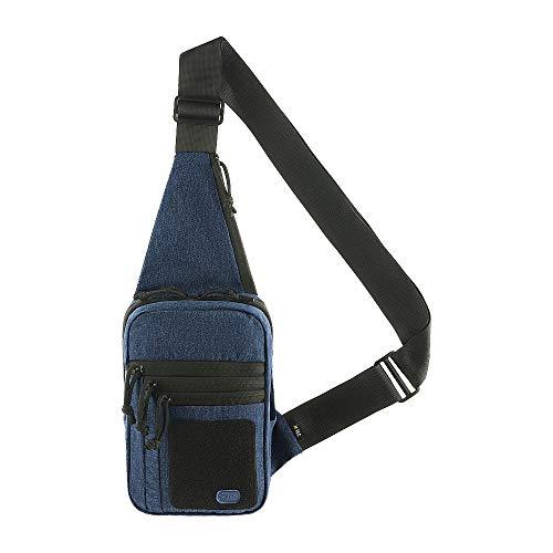 M-Tac Tactical Bag Shoulder Chest Pack with Sling for Concealed Carry of Handgun (Blue Melange)