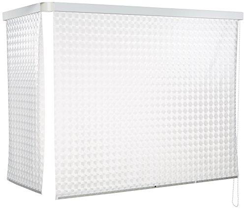 ECO-DuR 4024879002527 - Cortina de Ducha Enrollable (Angular 137 x 62 cm) diseño de peonzas Color Blanco