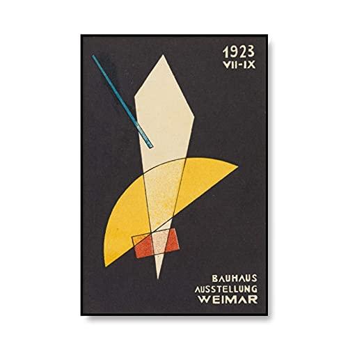 Bauhaus Ausstellung 1923 carteles de exposición e impresiones cuadros de arte de pared, pinturas de lienzo sin marco para decoración del hogar A1 50x75cm