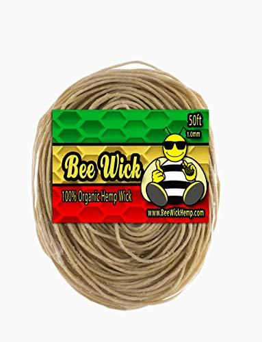 Bee Wick 50ft of 100% Organic Hemp Wick
