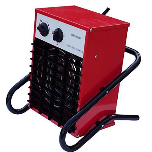 Lattice Calefactor Calentador De Ventilador Industrial/Comercial con 3 Configuraciones, Calentador De Ventilador Eléctrico De Servicio Pesado para Taller Taller De Garaje 6000 W, Rojo
