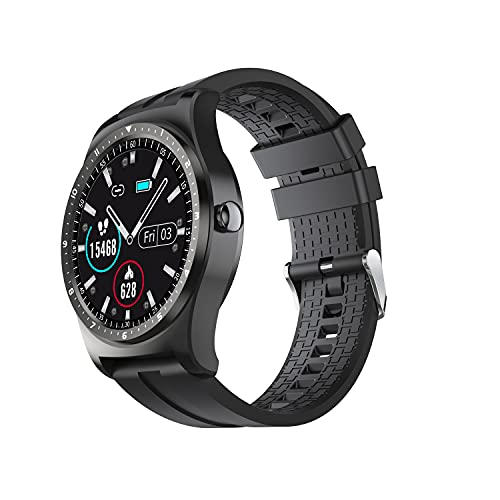 SmartWatch 2021 IP68 Impermeable Fitness Deportes Monitor de Ritmo cardíaco Smart Watch Men for Business Android iOS para Xiaomi MingYuChangHu (Color : Black)