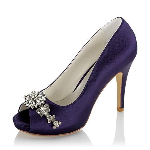 JIAJIA 154812K De Las Mujeres Zapatos de Novia Peep Toe Tacón Alto...