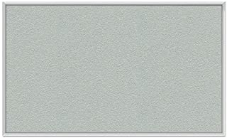 Wall Mounted Bulletin Board Surface Color: Silver, Size: 1'6