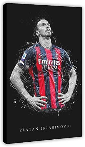 Hesuz Foto Auf Leinwand 60x80cm Kein Rahmen Super Star Fußballspieler Zlatan Ibrahimovic Poster 09 Poster Schlafzimmer