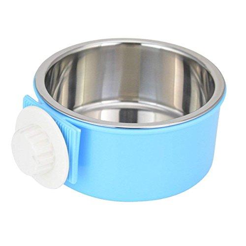 IKENOKOI ペット食器 餌入れ ペットボウル 洗いやすい 水ボウル ごはん皿 お水入れ 猫 犬 取り外し可能(ブルー)