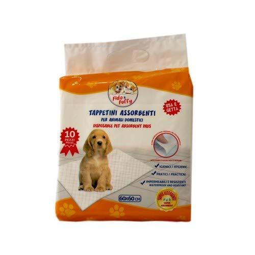 Vapa 140 Tappetini Igienici Anti Odore per Cane 60x60 Traversine per Animali con Adesivo Ideali per Cani e Gatti