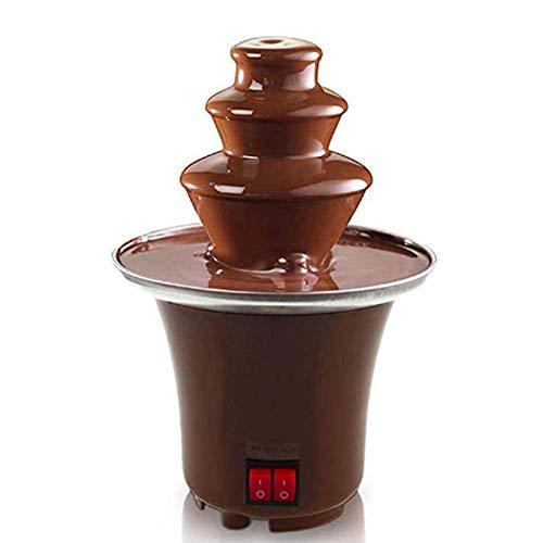 3-Stufige Schokoladenbrunnenmaschine, Elektrisches Schokoladenfondue-Set, Edelstahlfondue-Wärme- Und Motorsteuerung Für Partyhochzeiten