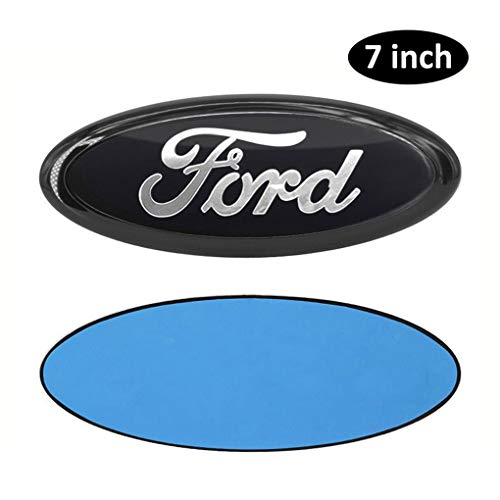 7inch Ford Emblem, Front Grille Tailgate Emblem Adhesive Tape Sticker Badge for Escape Excursion Expedition Freestyle F-150 F-250 F350