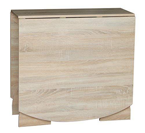 Rodnik Tisch ausklappbar - Klapptisch- Esstisch klappbar - Sonoma Eiche - abgerundete Ecken - klappbarer Tisch - 376-2