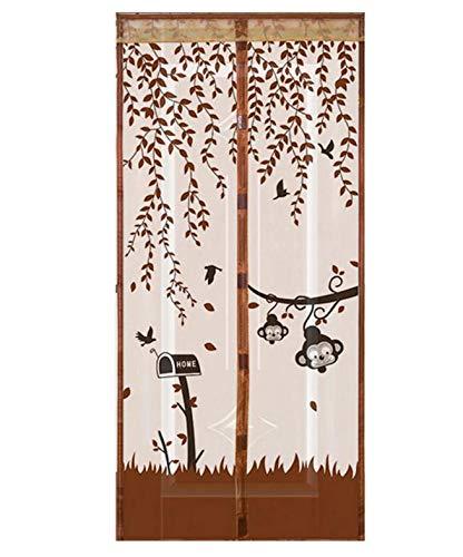 Rollläden Anti-Mücken-Duschvorhänge aus magnetischem Tüll schließen automatisch die Türscheibe. Sommer-Mesh-Anti-Moskito-Türvorhänge A2 B120xH210