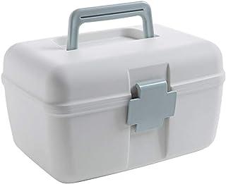 二重層の薬箱家族ポータブルプラスチック小さな薬箱家庭用薬収納ボックス多層収納ボックスライトブルー