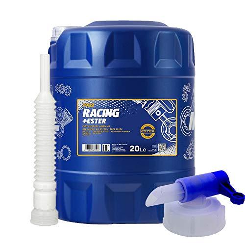 MANNOL 20 Liter, Racing+Ester 10W-60 MOTORÖL + HAHN + Schlauch