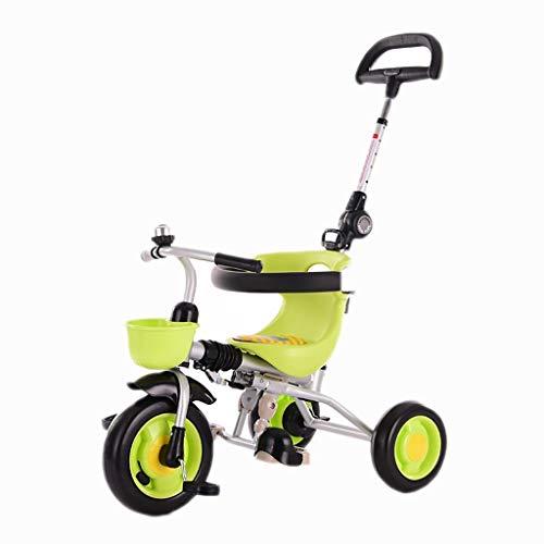 YETC Triciclos for niños Bicicletas 1-3-6 años de Edad Bicicletas cochecitos de bebé Bicicletas Infantiles niños y niñas de los cochecitos (Color : Green)