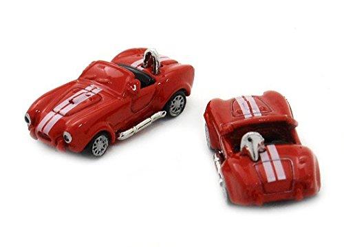 Unbekannt Manschettenknöpfe Cabrio sportliches Auto Fahrzeug rot Weiss + Exklusivbox