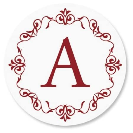 Set of 144 Stickers Initial Monogram Envelope Seal