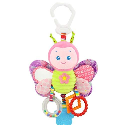 juguetes de la felpa del traqueteo del bebé del niño del traqueteo del asiento de coche cochecito cuna Juego Colgando juguete interactivo y regalo de la mariposa juguetes educativos para niños