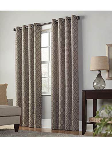 allen + roth Keldgate Cobblestone Polyester Light Filtering Single Curtain Panel 84 L x 50 W