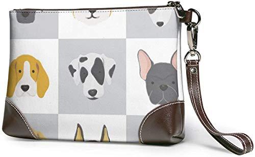 GLGFashion Portafoglio frizione Dog Collection Leather Wristlet Clutch Purses Bag Crossbody Clutch Wallet Handbags For Women