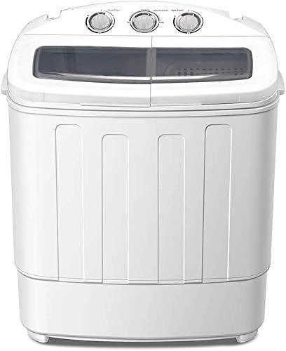 Raelf 1Portable Waschmaschine Mini Compact Double Barrel Waschmaschine Zwei Badewanne Waschmaschine weiß Student-nur Waschmaschine Waschmaschine, 110-220 V 2 EIN-, Rotationstrockner for Familien