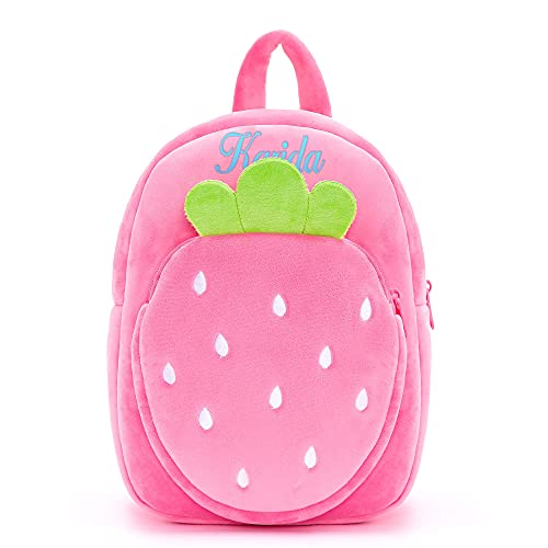 Lazada Personalized Strawberry Toddler backpack Pink Age 3+ (11')