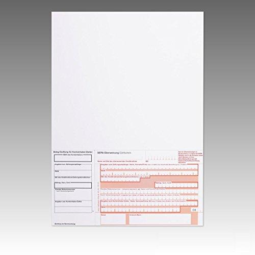 1000 x Überweisungsträger Überweisungsformular SEPA Zahlschein A4 unten rechts ohne