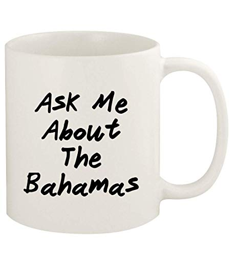 Ask Me About THE BAHAMAS - 11oz Ceramic White Coffee Mug Cup, White