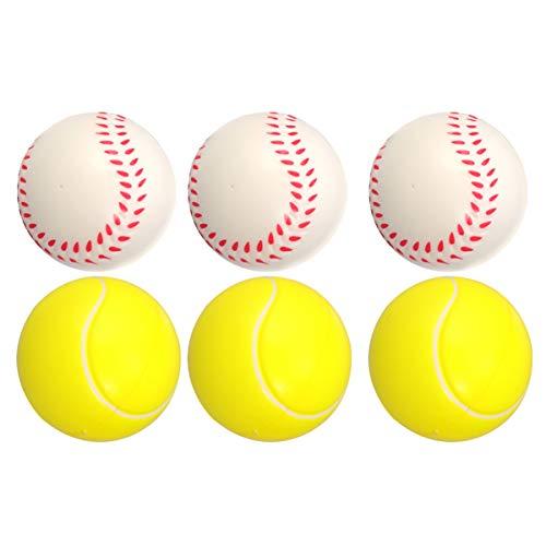LIOOBO Mini Palline Sportive da 12 Pezzi pu - Palline morbide da Baseball/da Tennis - 2.5 Palline Antistress - Giocattolo a lenta Crescita per Ragazzi Ragazze Bambini Regali Adulti