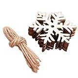 Tnaleve 10 piezas de madera colgante árbol de Navidad Navidad adornos colgantes conjunto de decoración de Navidad artesanía para árbol de Navidad ventana puerta decoración copo de nieve