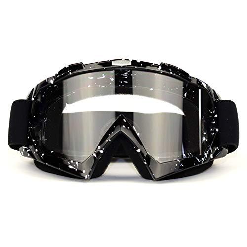Motocross Brille schwarz,Skibrille, Anti-Fog- und Anti-Ultraviolett-Brille, biegbar mit Einer doppellinsenverdickten Schaumstoffunterlage für Outdoor-Aktivitäten
