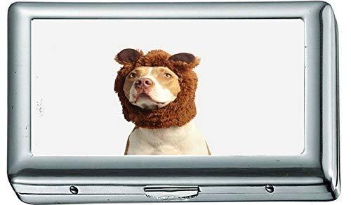 Pitbull Terrier Americano marrón y Blanco con Traje marrón 82594 Estuche/Caja de...