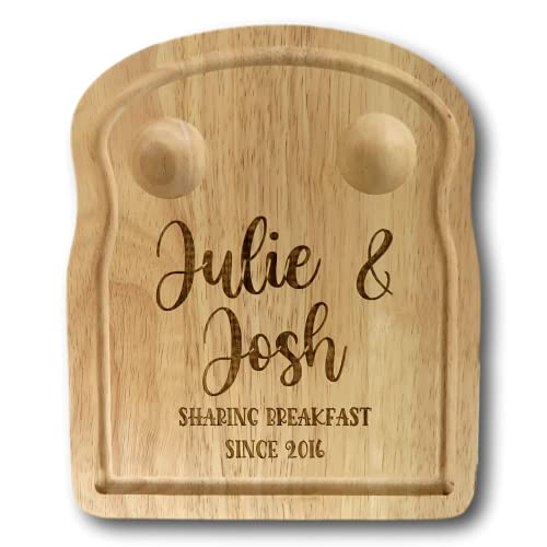 Sharing Breakfast Since Egg Board | Personalised dippy Egg Board | Wedding Present | 5th Anniversary Present | Breakfast Present | Food Present | Birthday Present | Husband Present | Present for Wife