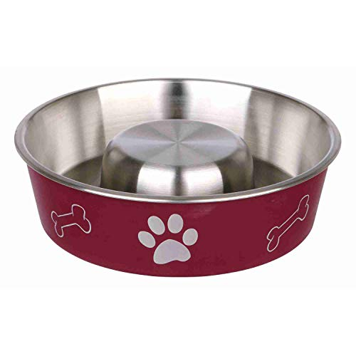 Trixie Slow Feed - Ciotola per Cani in Acciaio Inox